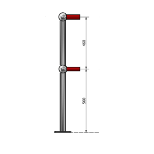 platform end post drilled one side only 2pdoso